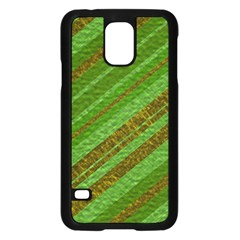 Stripes Course Texture Background Samsung Galaxy S5 Case (black) by Onesevenart