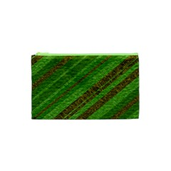 Stripes Course Texture Background Cosmetic Bag (xs) by Onesevenart