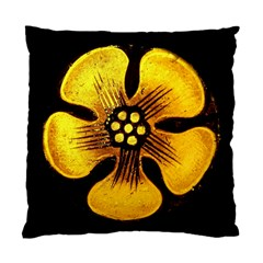 Yellow Flower Stained Glass Colorful Glass Standard Cushion Case (two Sides) by Onesevenart