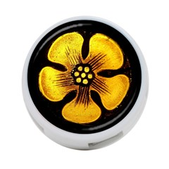 Yellow Flower Stained Glass Colorful Glass 4 Port Usb Hub (one Side) by Onesevenart