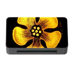 Yellow Flower Stained Glass Colorful Glass Memory Card Reader With Cf by Onesevenart