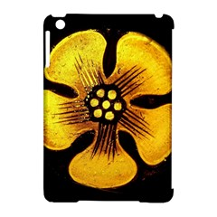 Yellow Flower Stained Glass Colorful Glass Apple Ipad Mini Hardshell Case (compatible With Smart Cover) by Onesevenart