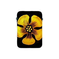 Yellow Flower Stained Glass Colorful Glass Apple Ipad Mini Protective Soft Cases by Onesevenart