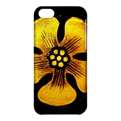 Yellow Flower Stained Glass Colorful Glass Apple Iphone 5c Hardshell Case by Onesevenart