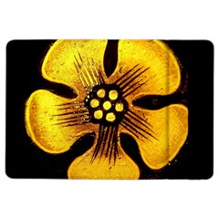 Yellow Flower Stained Glass Colorful Glass Ipad Air 2 Flip by Onesevenart