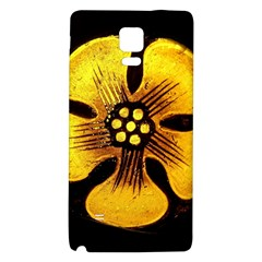 Yellow Flower Stained Glass Colorful Glass Galaxy Note 4 Back Case by Onesevenart
