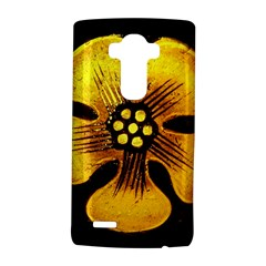 Yellow Flower Stained Glass Colorful Glass Lg G4 Hardshell Case by Onesevenart