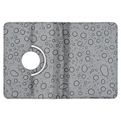 Water Glass Pattern Drops Wet Kindle Fire Hdx Flip 360 Case by Onesevenart