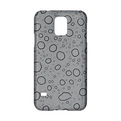 Water Glass Pattern Drops Wet Samsung Galaxy S5 Hardshell Case  by Onesevenart