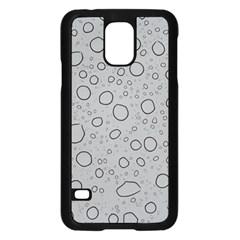 Water Glass Pattern Drops Wet Samsung Galaxy S5 Case (black) by Onesevenart