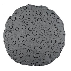 Water Glass Pattern Drops Wet Large 18  Premium Flano Round Cushions by Onesevenart