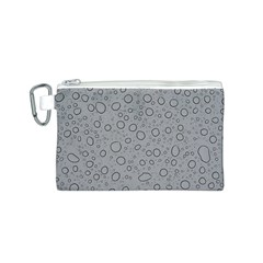Water Glass Pattern Drops Wet Canvas Cosmetic Bag (s) by Onesevenart