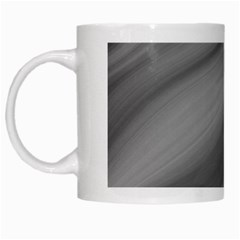 Wave Form Texture Background White Mugs by Onesevenart