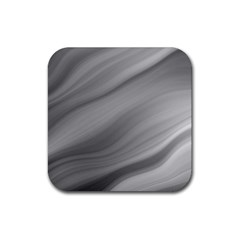 Wave Form Texture Background Rubber Square Coaster (4 Pack)  by Onesevenart