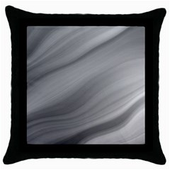 Wave Form Texture Background Throw Pillow Case (Black)