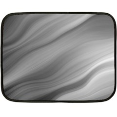Wave Form Texture Background Double Sided Fleece Blanket (mini)  by Onesevenart