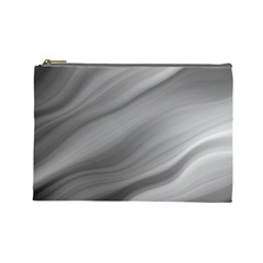 Wave Form Texture Background Cosmetic Bag (large)  by Onesevenart