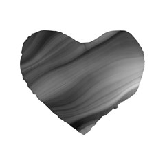 Wave Form Texture Background Standard 16  Premium Flano Heart Shape Cushions by Onesevenart