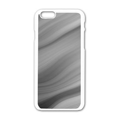 Wave Form Texture Background Apple Iphone 6/6s White Enamel Case by Onesevenart