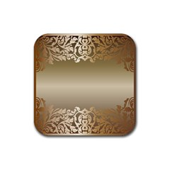 Floral Decoration Rubber Square Coaster (4 Pack)  by Onesevenart
