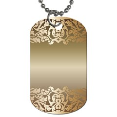Floral Decoration Dog Tag (two Sides) by Onesevenart