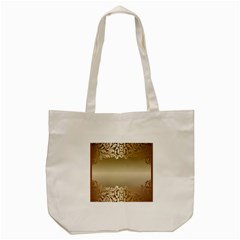 Floral Decoration Tote Bag (cream) by Onesevenart