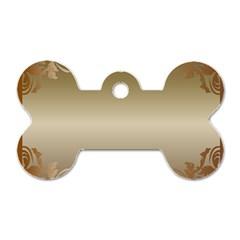 Floral Decoration Dog Tag Bone (one Side) by Onesevenart