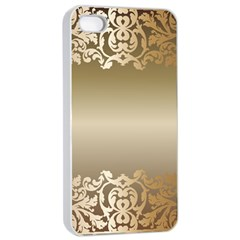 Floral Decoration Apple Iphone 4/4s Seamless Case (white) by Onesevenart