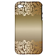 Floral Decoration Apple Iphone 4/4s Hardshell Case (pc+silicone) by Onesevenart