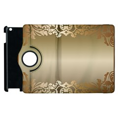Floral Decoration Apple Ipad 3/4 Flip 360 Case by Onesevenart