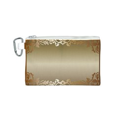Floral Decoration Canvas Cosmetic Bag (s) by Onesevenart