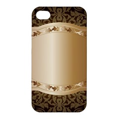 Floral Apple Iphone 4/4s Premium Hardshell Case by Onesevenart