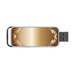 Floral Portable Usb Flash (two Sides) by Onesevenart