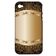 Floral Apple Iphone 4/4s Hardshell Case (pc+silicone) by Onesevenart