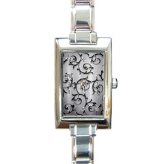 Floral Rectangle Italian Charm Watch by Onesevenart