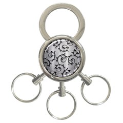 Floral 3 Ring Key Chains by Onesevenart