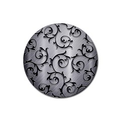 Floral Rubber Coaster (round)  by Onesevenart