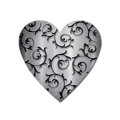Floral Heart Magnet by Onesevenart