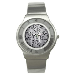 Floral Stainless Steel Watch by Onesevenart