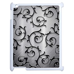 Floral Apple Ipad 2 Case (white) by Onesevenart