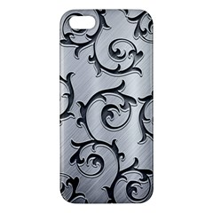 Floral Apple Iphone 5 Premium Hardshell Case by Onesevenart