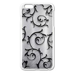 Floral Apple Iphone 6 Plus/6s Plus Enamel White Case by Onesevenart