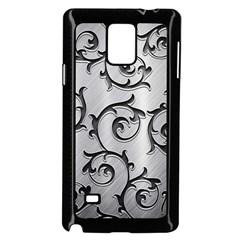 Floral Samsung Galaxy Note 4 Case (black) by Onesevenart