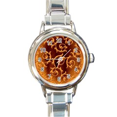 Floral Vintage Round Italian Charm Watch by Onesevenart
