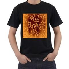 Floral Vintage Men s T Shirt (black) by Onesevenart