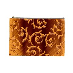 Floral Vintage Cosmetic Bag (large)  by Onesevenart