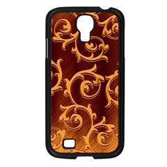 Floral Vintage Samsung Galaxy S4 I9500/ I9505 Case (black) by Onesevenart