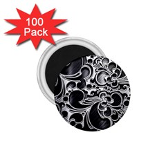 Floral High Contrast Pattern 1 75  Magnets (100 Pack)  by Onesevenart