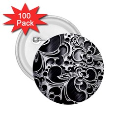 Floral High Contrast Pattern 2 25  Buttons (100 Pack)  by Onesevenart