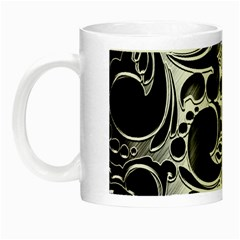 Floral High Contrast Pattern Night Luminous Mugs by Onesevenart